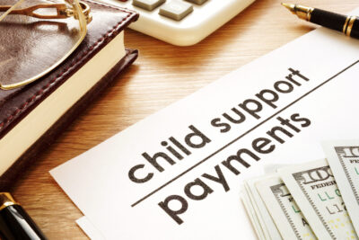 Trimnal & Myers, child support payments, documents in court